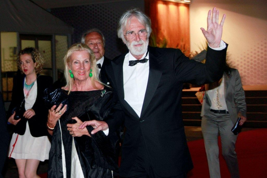 "Michael HANEKE et son épouse, Palme d'Or pour "" AMOUR"" - Festival de Cannes 2012 - Photo © Anik Couble"