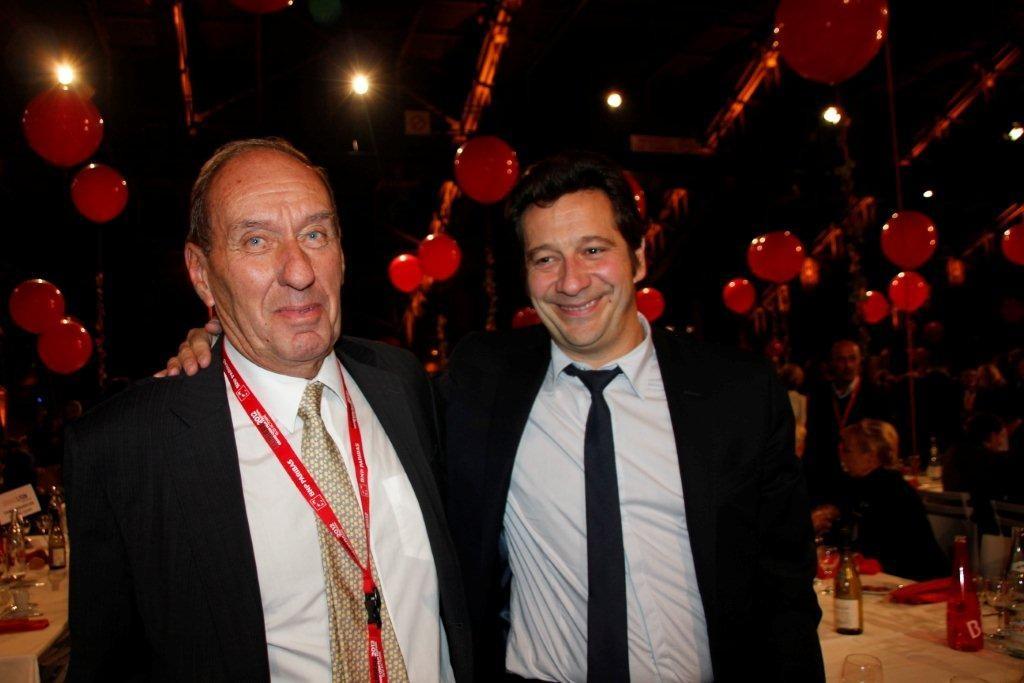 Max Lefrancq-Lumière et Laurent Gerra - Festival Lumière 2012 - Lyon © Anik COUBLE