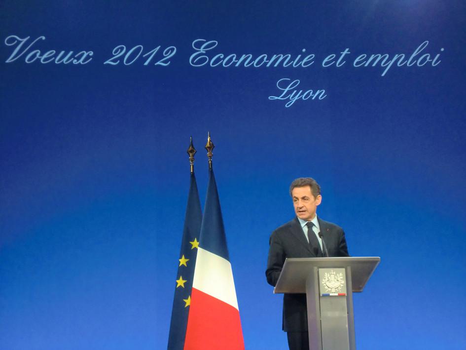 Nicolas Sarkozy-  Eurexpo Chassieu - Lyon -  Janvier 2012 - Photo © © WebCannesStory