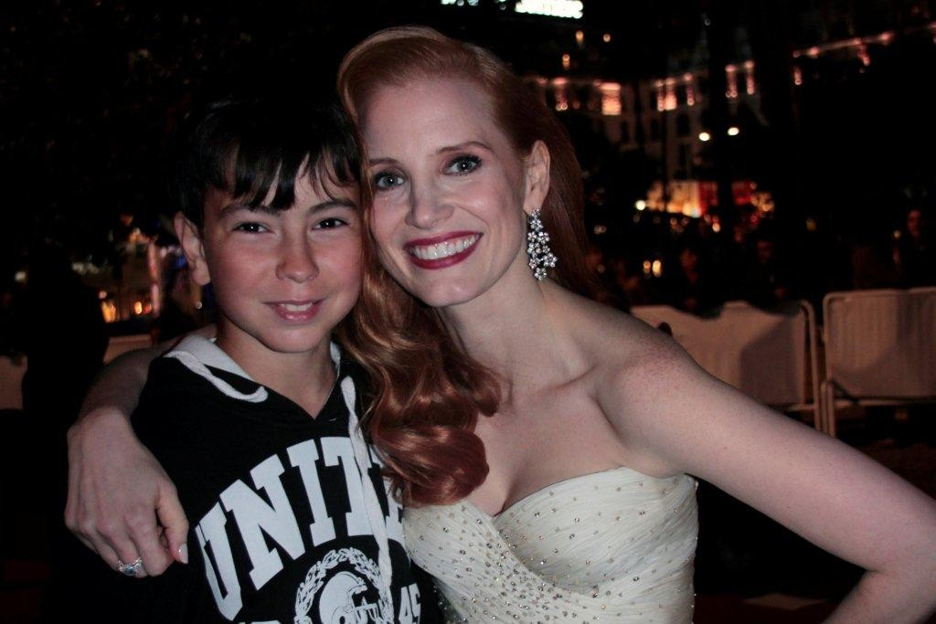 Jessica Chastain et Alan Badaoui-Couble - Festival de Cannes 2012 - Photo © Anik COUBLE