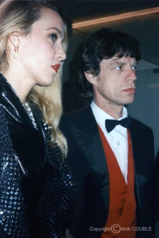 Jerry Hall et Mike Jagger 1991  / Photo : Anik Couble