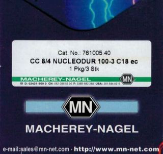 CC 8/4 Nuclodur 100-3 C18 Cat.No.:761005.40 Macherey-Nagel Ersatzteile und Zubehör für Chemie und Labor