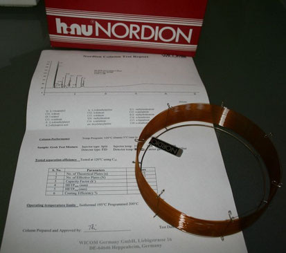 Nordion (WICOM) GC-Säule NB-5ms, 30m, 0.25mm, 0.25µm