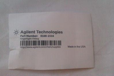 Agilent Technologies Fingertight Fitting Part