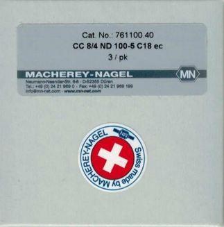 Vorsäule CC 8/4 ND 100-5 C18 ec Cat.No.: 761100.40 Macherey-Nagel Ersatzteile und Zubehör für Chemie und Labor