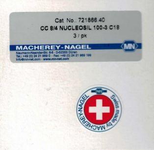 Vorsäule CC8-4 Nucleosil 100-3 C18 Cat No.: 721866.40 Macherey-Nagel Ersatzteile und Zubehör für Chemie und Labor