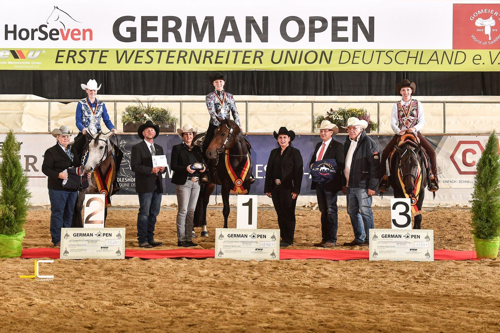 "2018 Bronzemedaillie EWU German Open ""JuPf Trail 4YO"""