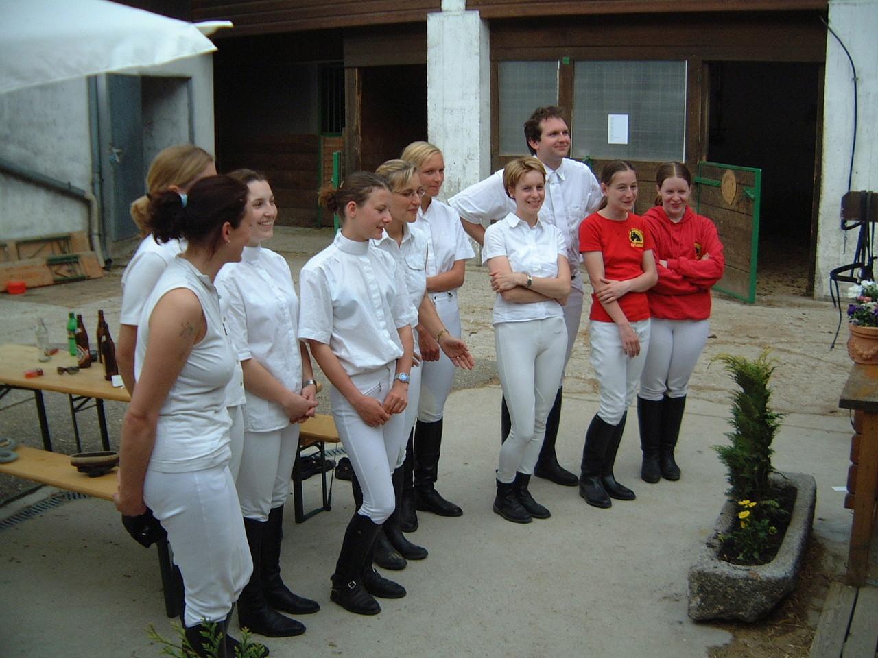 Reiterpass- und Reiternadelprüfung 2003