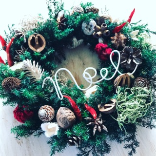 11月 表参道クリスマスワークショップ『フレッシュグリーンのクリスマスリース』
