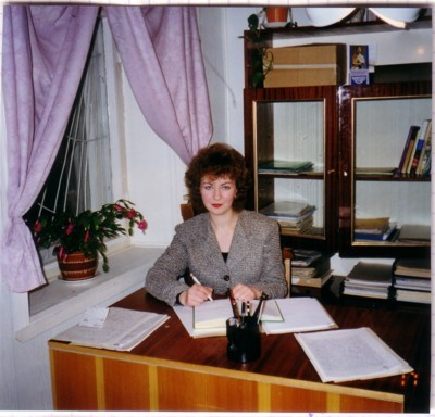 Калякина Светлана, первая золотая медалистка школы 1991.