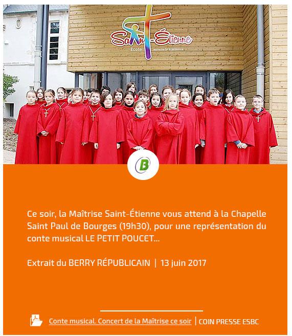 Ensemble Scolaire Bourges-Centre (ESBC) | Revue de presse