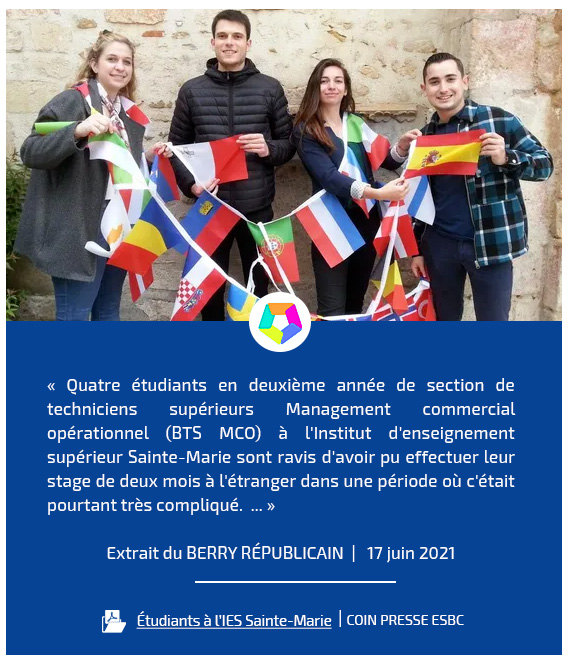 Ensemble Scolaire Bourges-Centre (ESBC)   Revue de presse