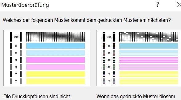 Farbtintenstrahlendrucker Canon MP250, Testausdruck, Düsentest, Berlin Steglitz-Zehlendorf, Lichterfelde, Dahlem