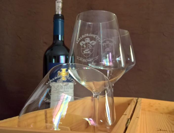 «Aria» type - complete set 6 glasses | Malborghetto e-shop