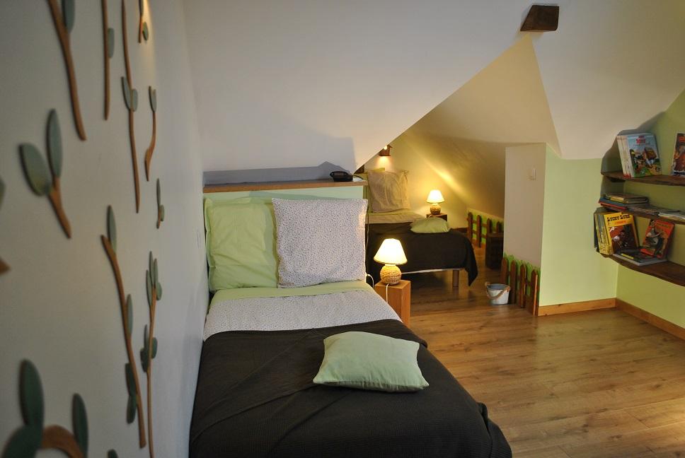 Chambre Cabane avec 2 lits simples