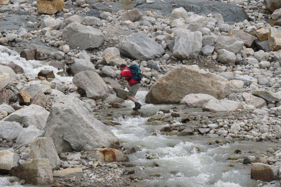 Walter in seinem Element wie anno dazumals in Nepal...