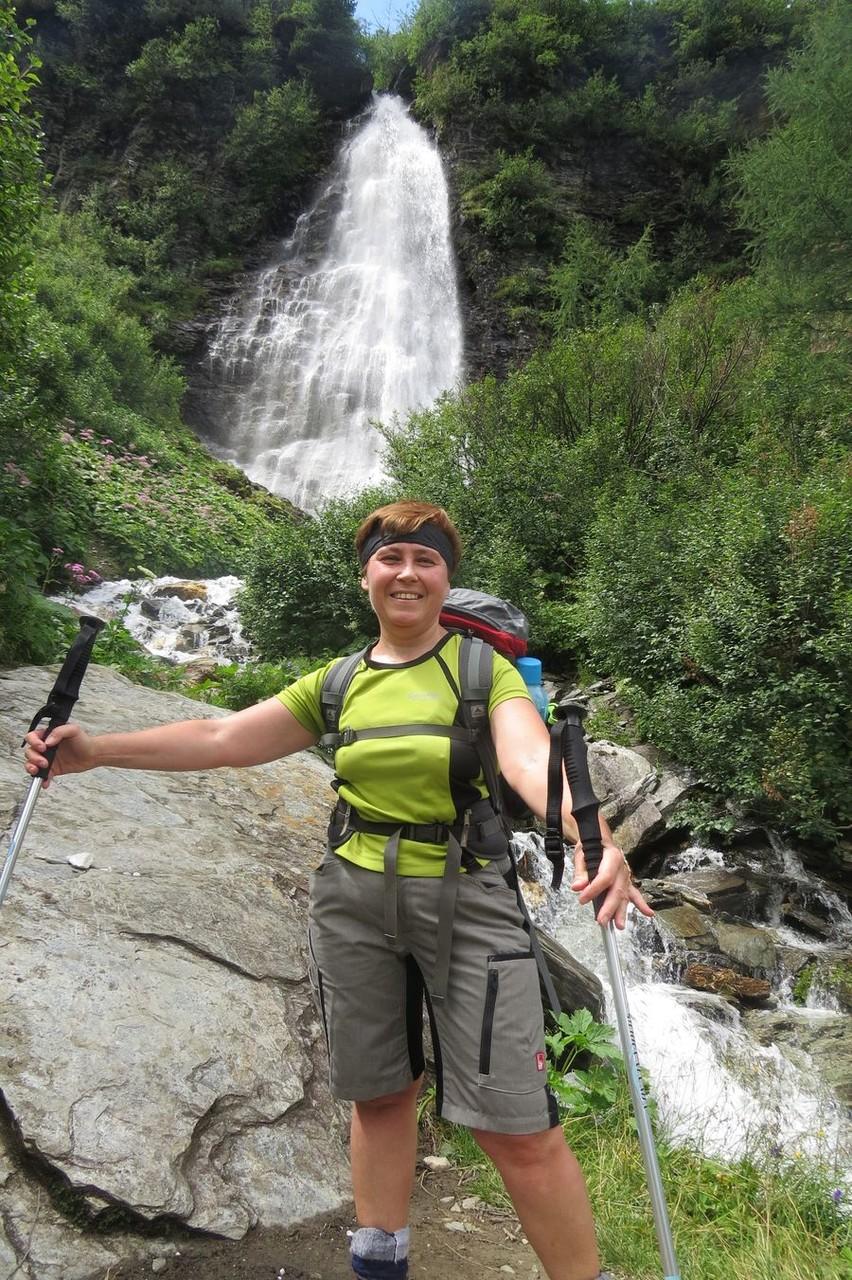 Elfi bei Barbara Wasserfall