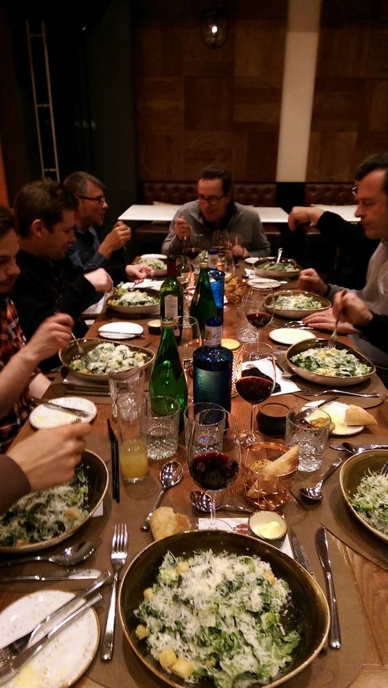 Abendessen in trauter Kollegen-Runde