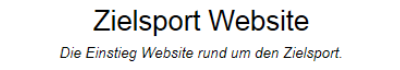 Zielsport Webseiten