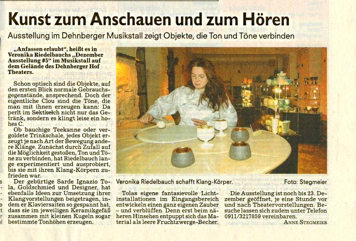 Kunst mit Klang - Pegnitzzeitung 2012