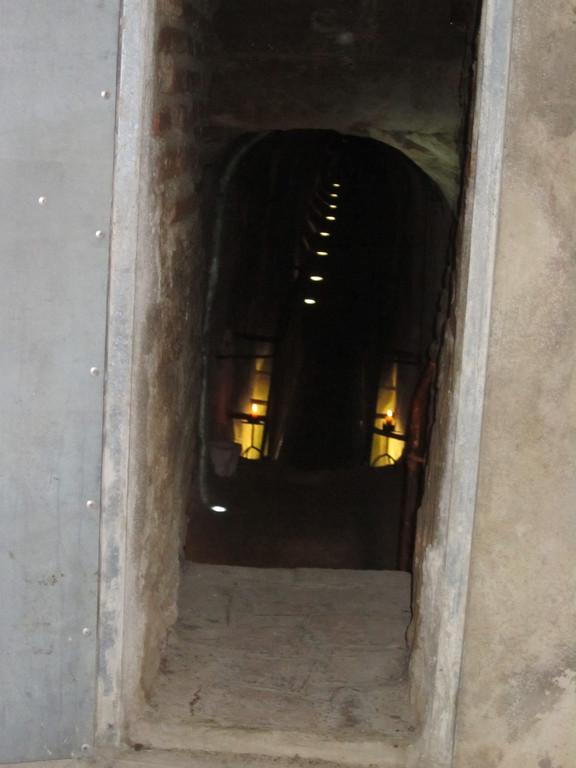 entrée du souterrain médiéval de St Sulpice La Pointe