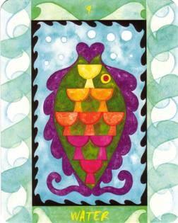 9 d'Eau - Le Tarot des Quatre Éléments