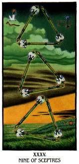 Ibis Tarot - 9 de Bâtons