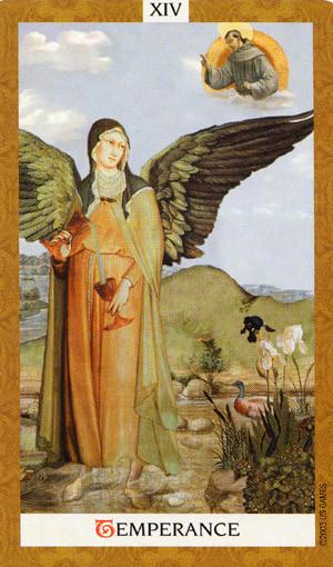 Golden Tarot - XIV Tempérance