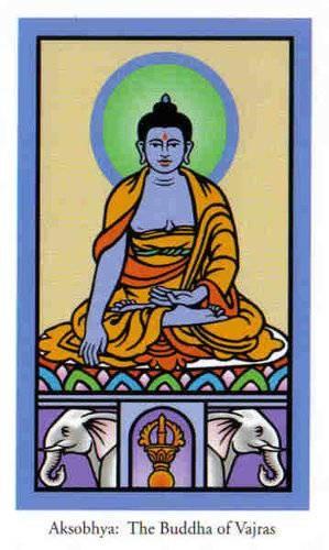 Jina Bouddha de Vajras - Le tarot de Bouddha