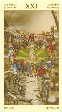 XXI Le Monde - Le tarot Bruegel