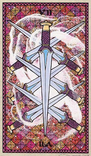 7 d'Épées - Le tarot Celtique