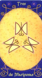 3 de Papillons - Tarot Macondo
