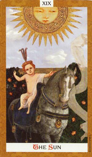 Golden Tarot - XIX Le Soleil