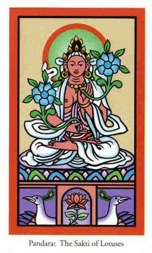 Satki Bouddha de Fleurs de lotus - Le tarot de Bouddha