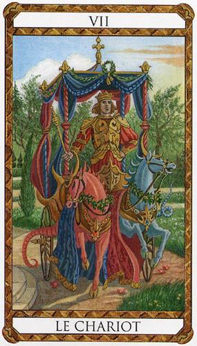 VII Le Chariot - Le tarot d'Ambre