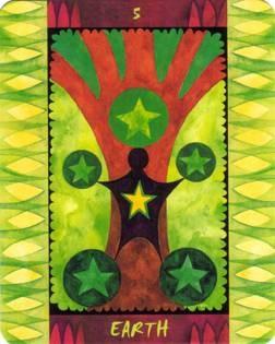 5 de Terre - Le Tarot des Quatre Éléments