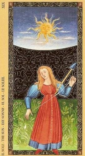 Golden Tarot of the Renaissance - XIX Le Soleil