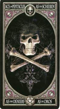 Gothic Tarot - As de Deniers