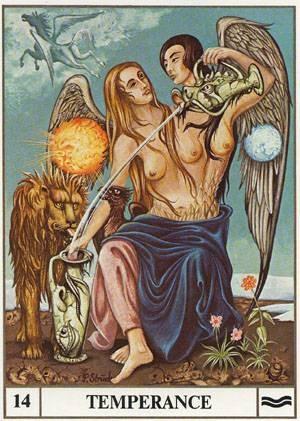 XIV Tempérance - Le tarot Ansata