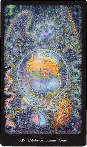 XIV Tempérance - Tarot de l'Ange Liberté