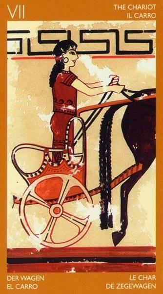 VII Le Chariot - Le tarot Étrusque