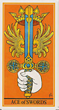 As d'Épées - Le tarot de la Roue de Dame Fortune