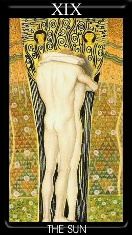 XIX Le Soleil - Golden Tarot of Klimt
