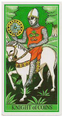 Chevalier de Deniers - Le tarot de la Roue de Dame Fortune