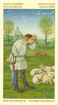 Valet d'Épées - Le tarot Bruegel