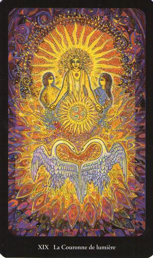XIX Le Soleil - Tarot de l'Ange Liberté