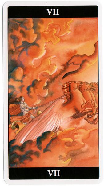 VII Le Chariot - Le tarot de l'Enchanteresse des Rêves