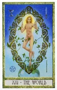 XXI Le Monde - Le tarot Druid Craft