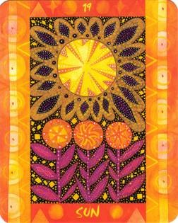XIX Le Soleil - Le Tarot des Quatre Éléments