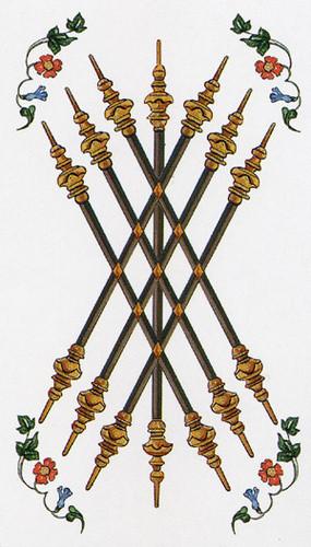 7 de Bâtons - Le tarot d'Ambre